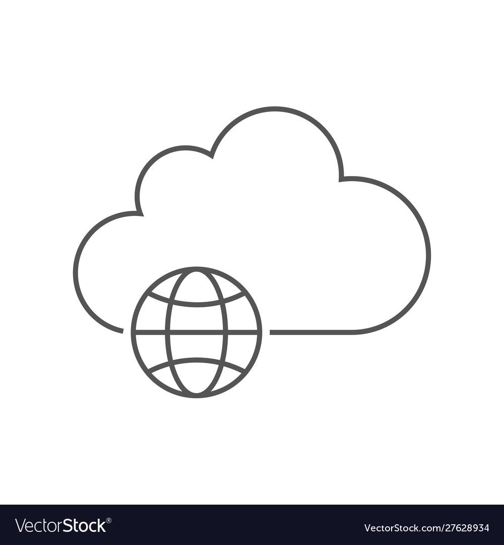 The concept cloud technology cloud storage a