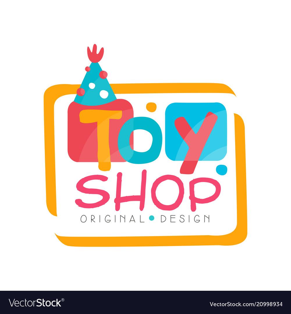 Toy shop logo original design kids store baby