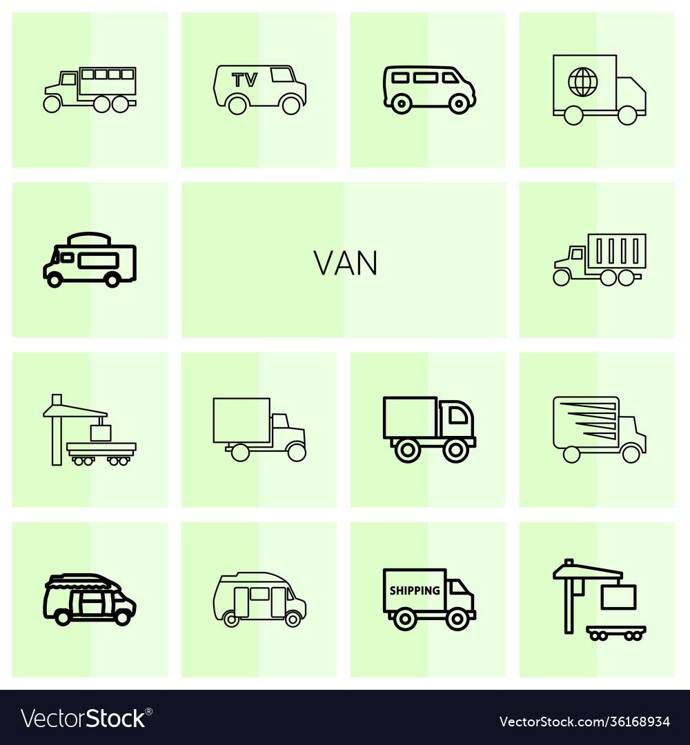 Van icons