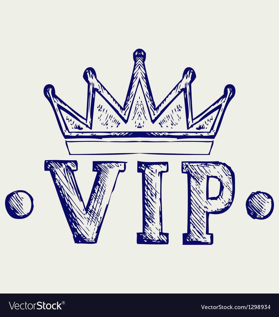 Vip crown symbol vector image