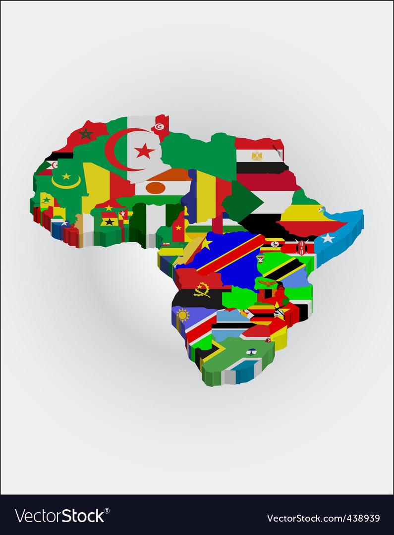 3d Africa map Royalty Free Vector Image VectorStock
