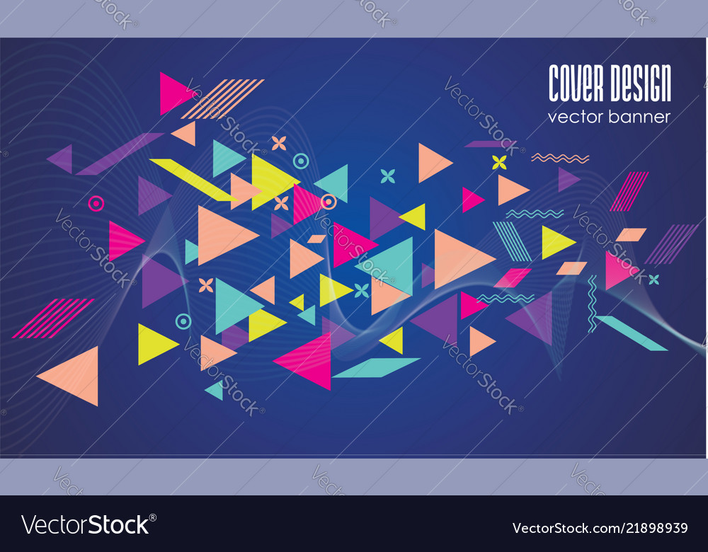 Abstract techno background withwaves and