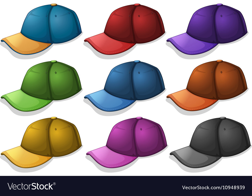 Caps in different colors
