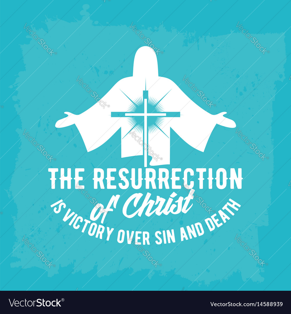 Christian biblical typography vector image