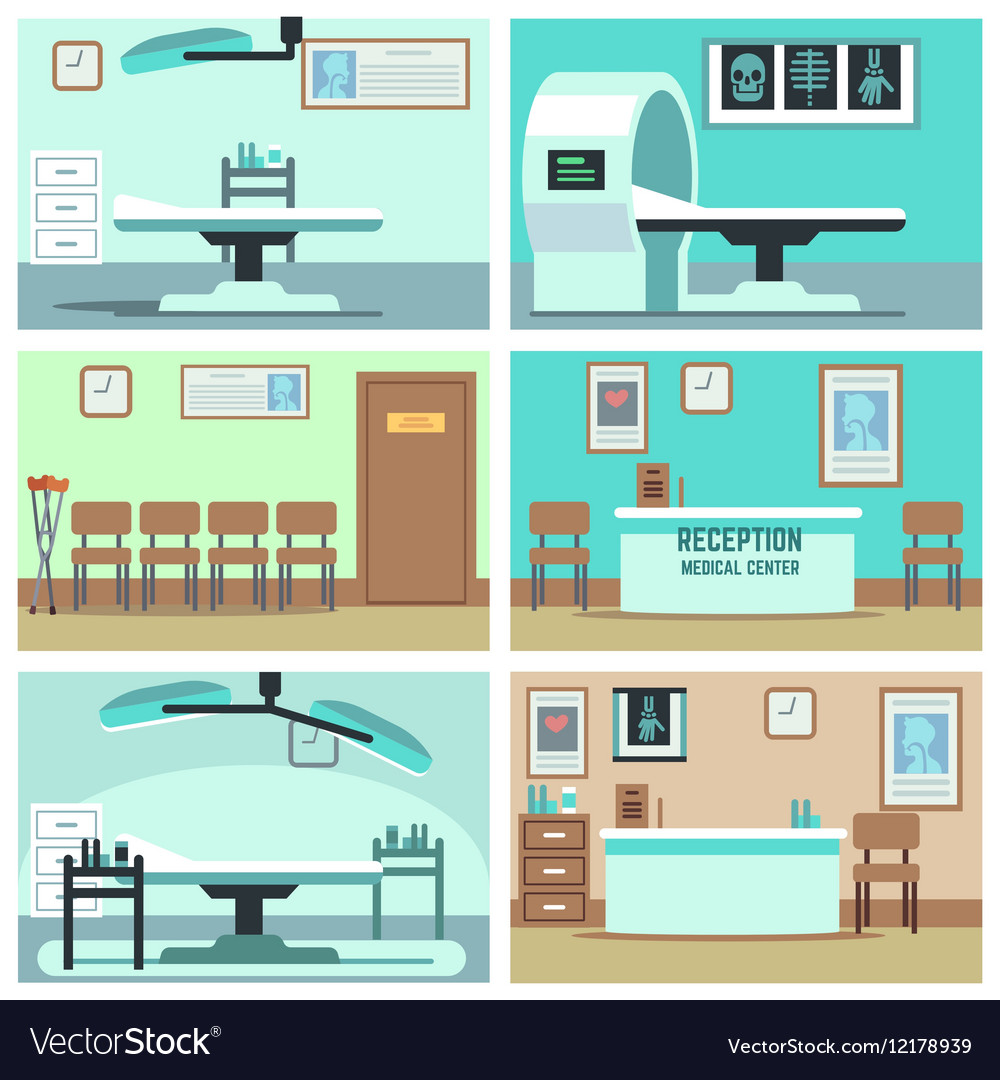 Empty hospital doctor office surgery room Vector Image
