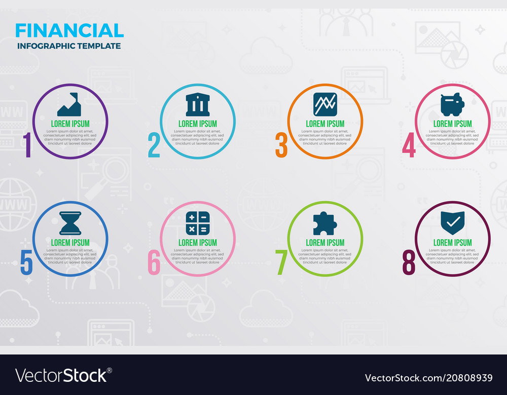Financial infographic template