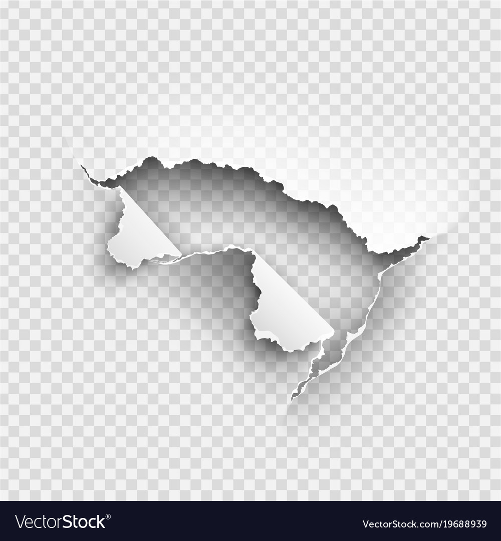hole torn in ripped paper on transparent vector image