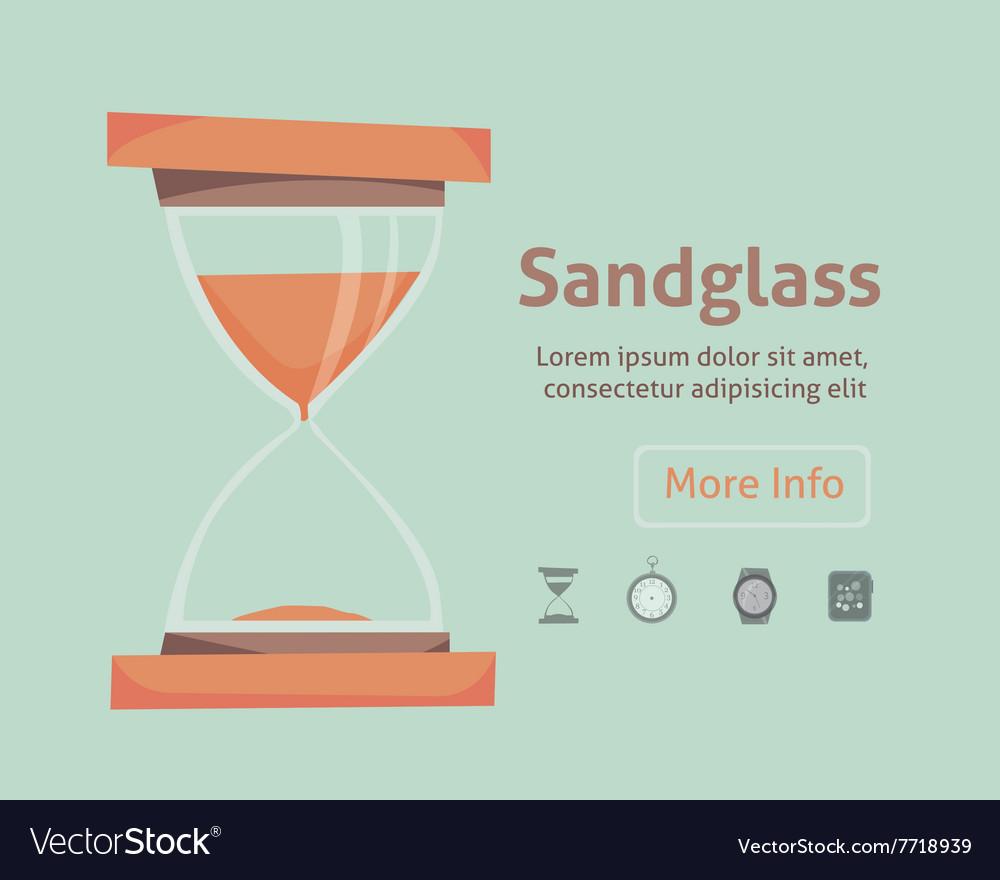 Sandglass icon eps 10 set clock vector image