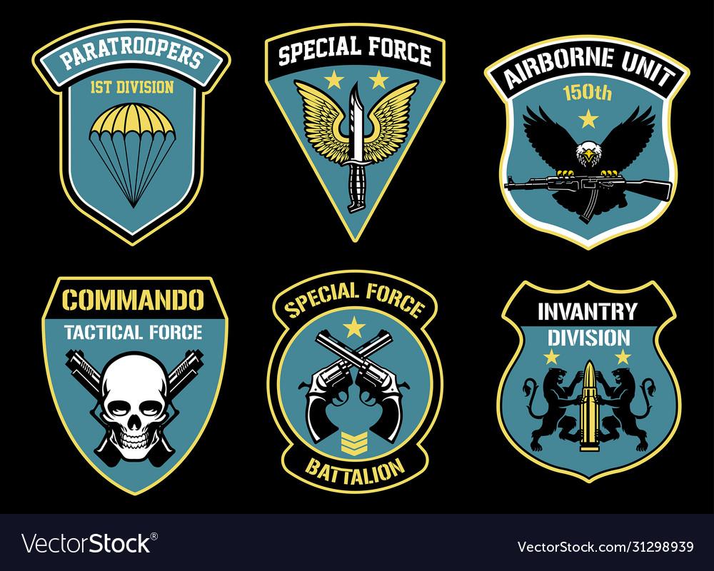 Set bundle military unit badges