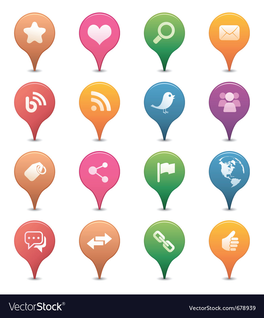 Social media pins