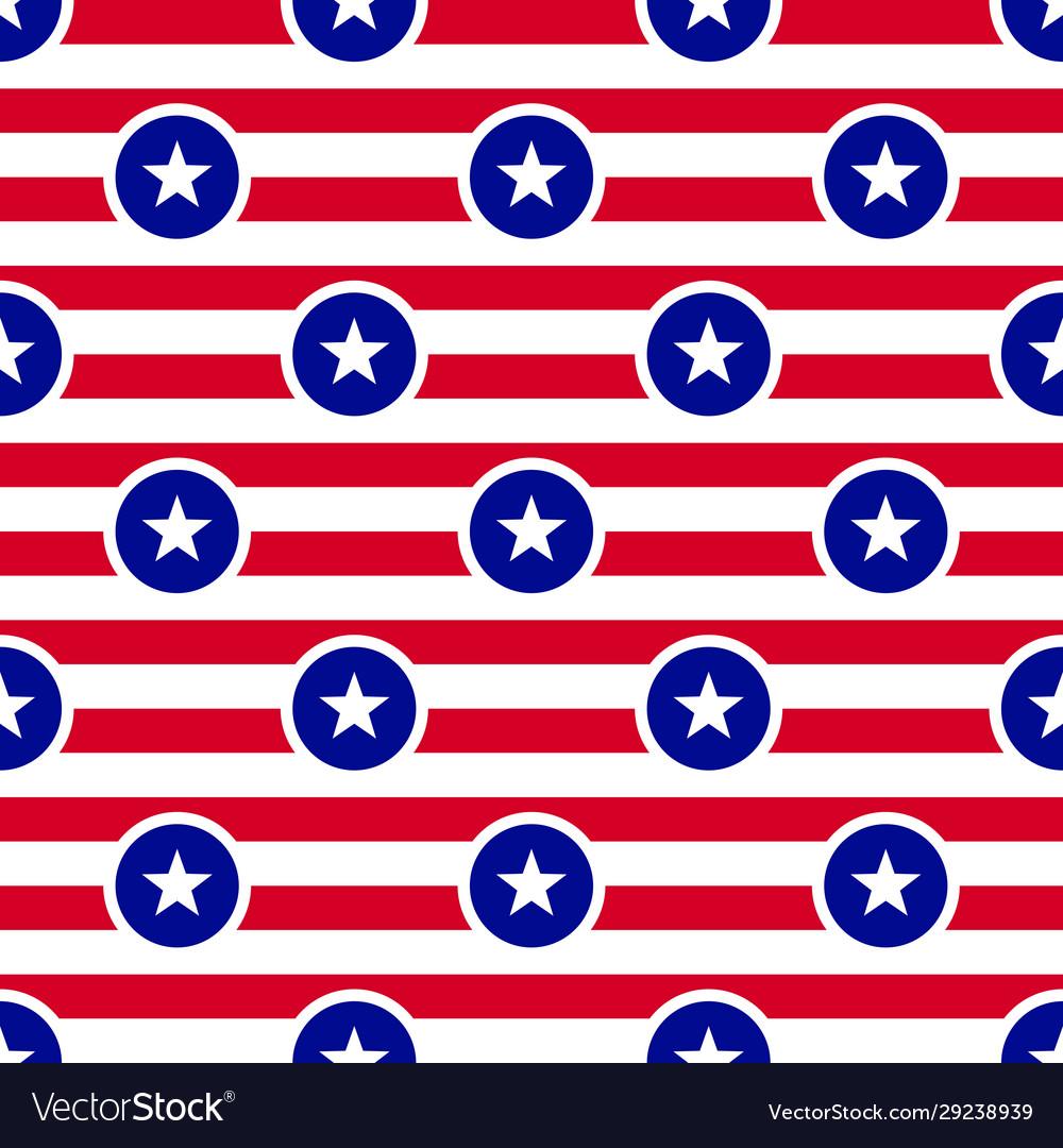 Usa flag theme seamless pattern background white