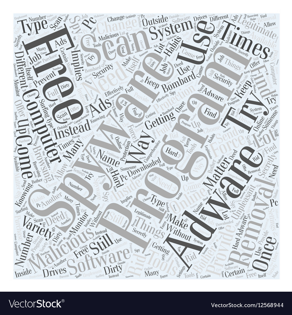 Adware free removal scan spyware Word Cloud