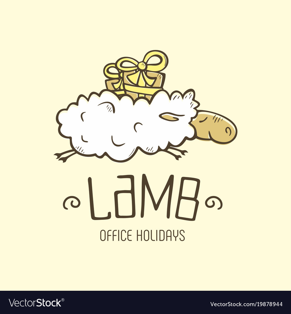 Modern professional sign logo lamb holiday