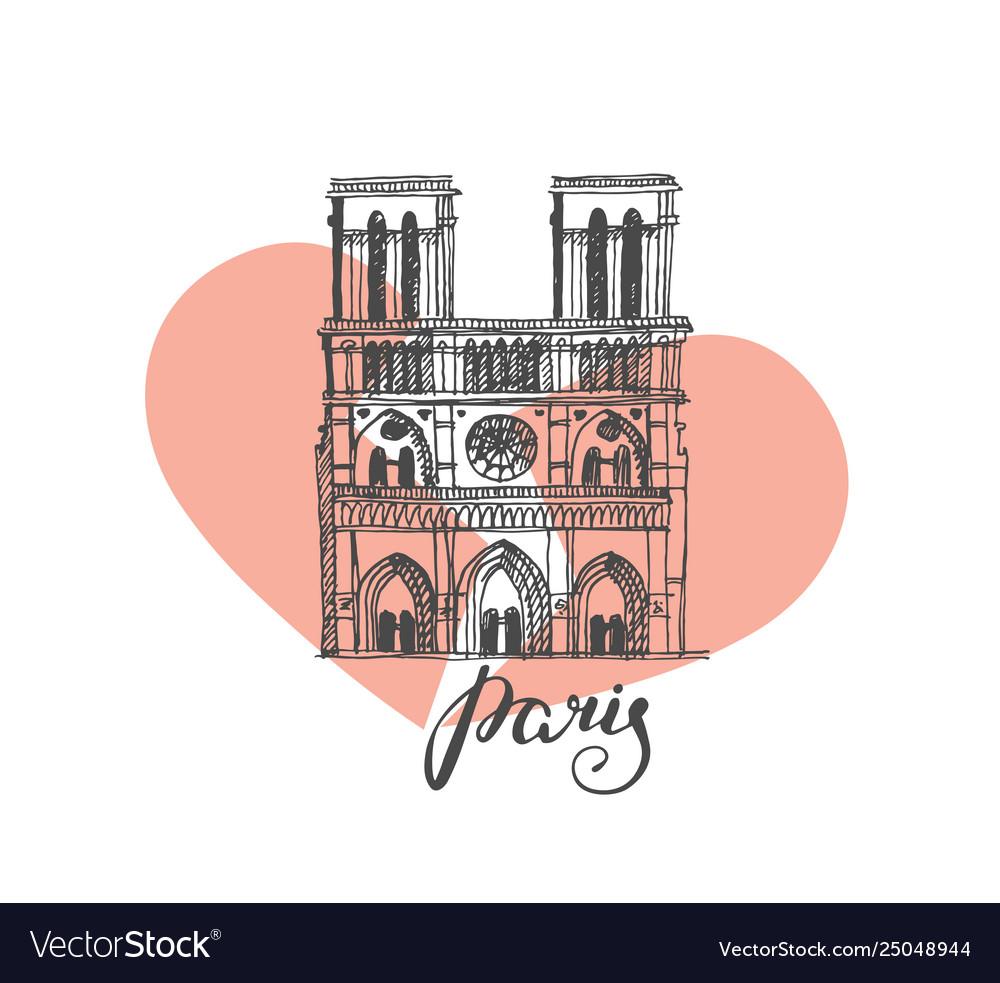 Notre dame de paris cathedral france