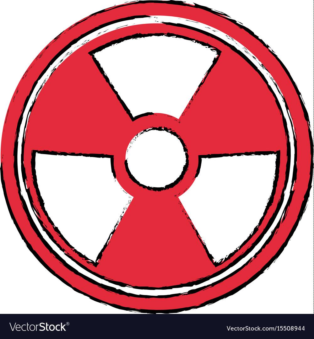 Radiation Caution Hazard Nuclear Symbol Royalty Free Vector