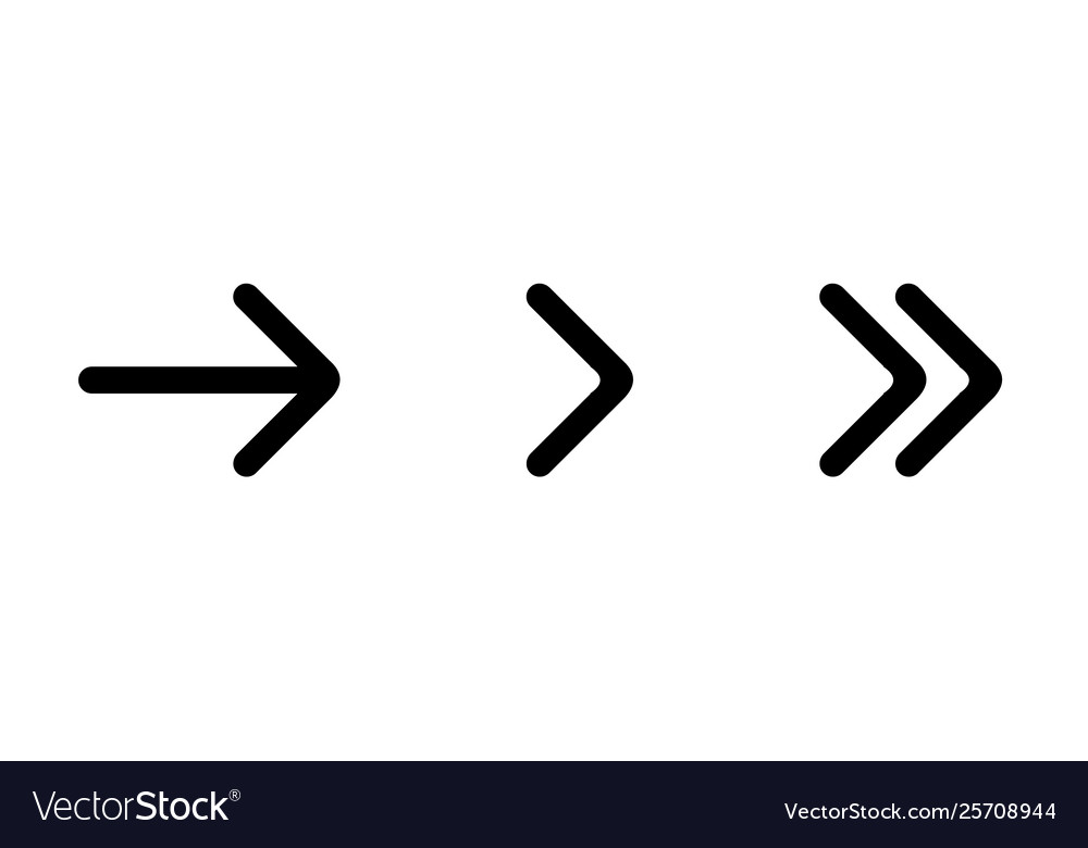 Set black arrows arrow icon arrow