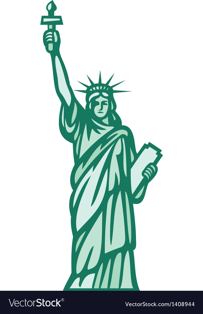 statue of liberty royalty free vector image vectorstock rh vectorstock com statue of liberty vector silhouette statue of liberty vector art