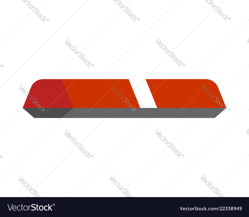 Ambulance car light sign isolated
