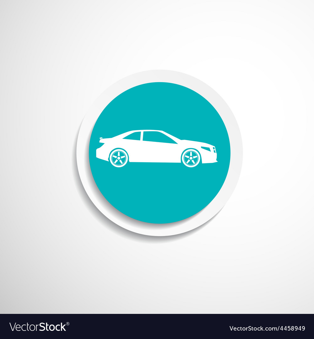 Automobile icon car vehicle automotive vector image