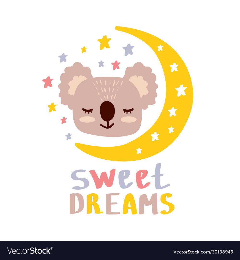 Cute koala sweet dreams
