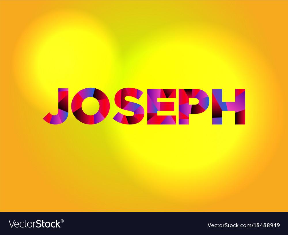 joseph theme word art royalty free vector image