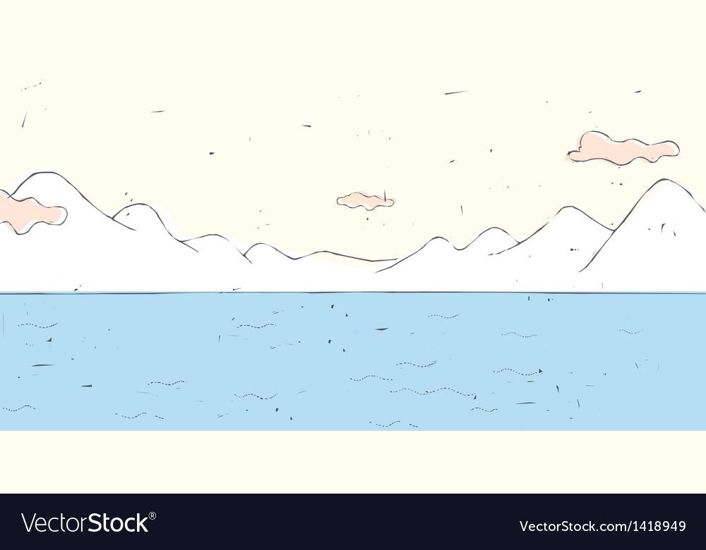 Lake Landscape Background