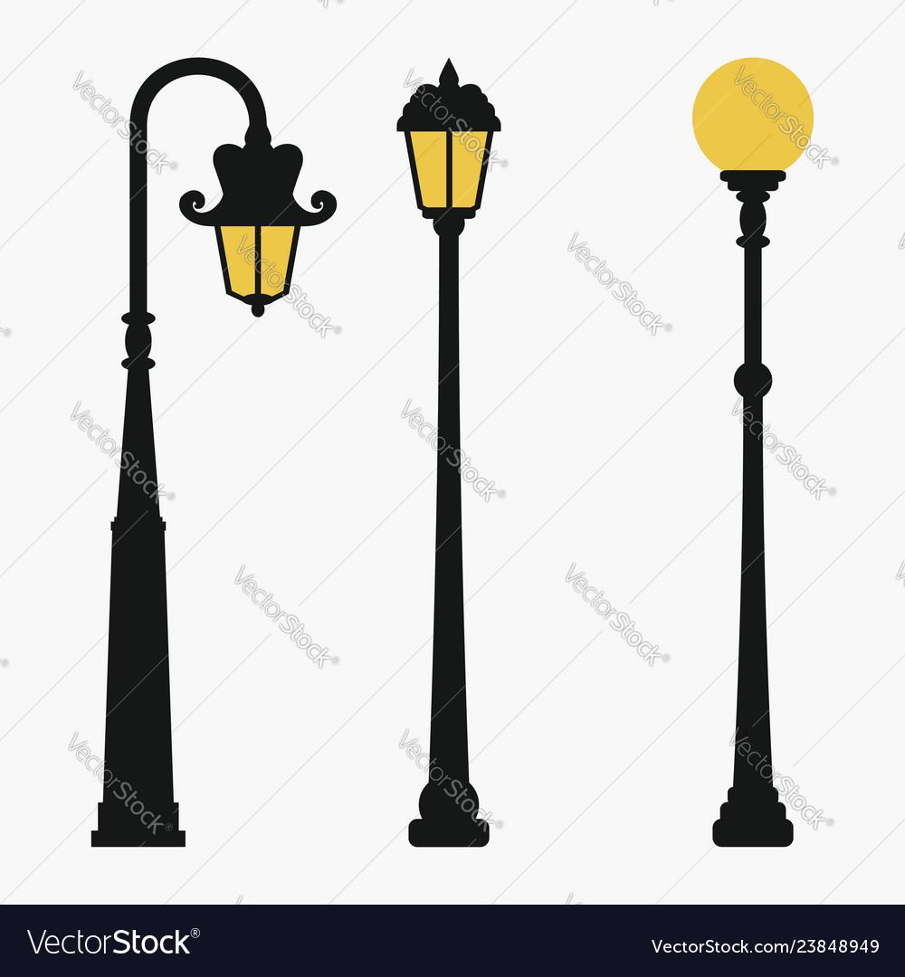 Street lamps set