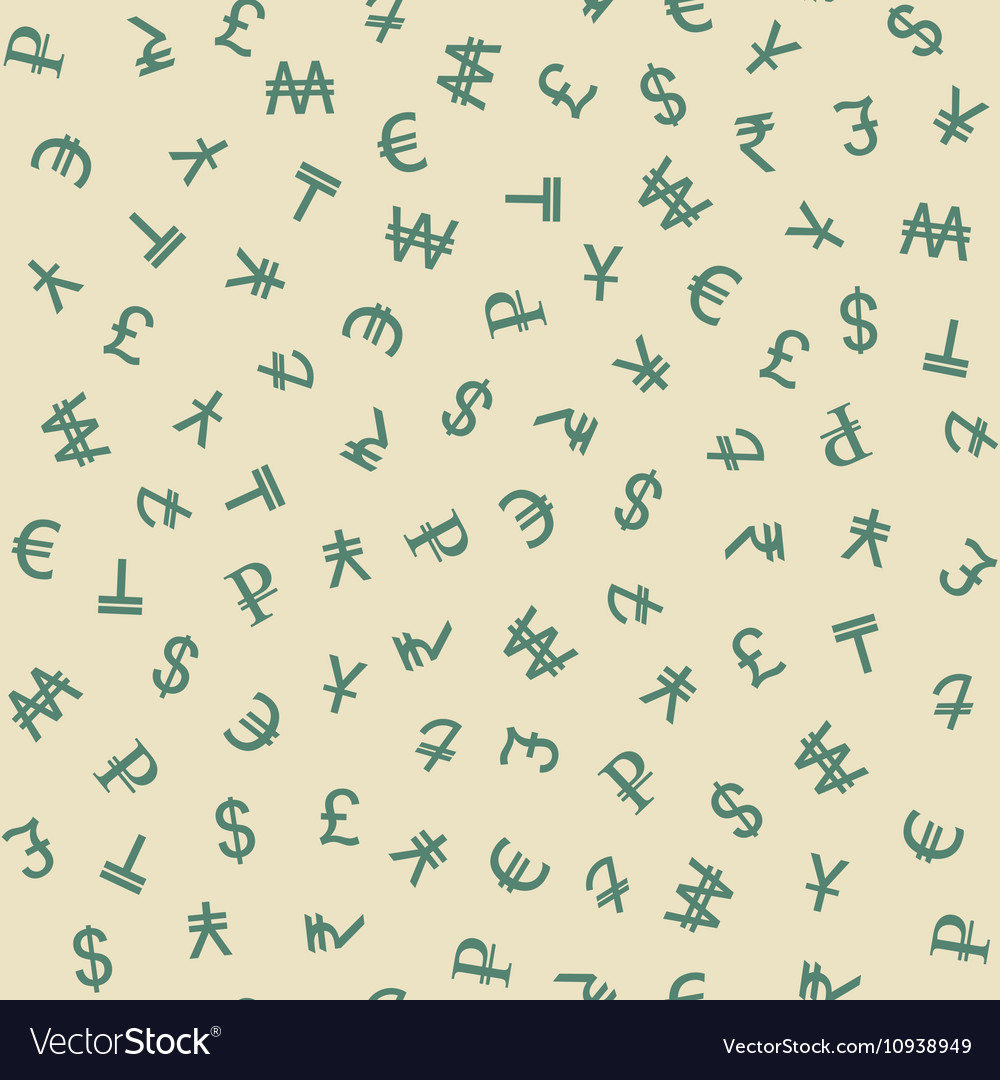 Symbols Of Various Currencies Seamless Pattern Vector Image