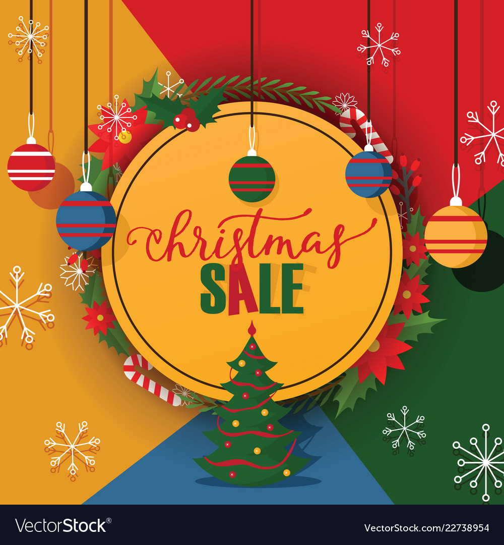 Christmas sale merry xmas discount for Royalty Free Vector
