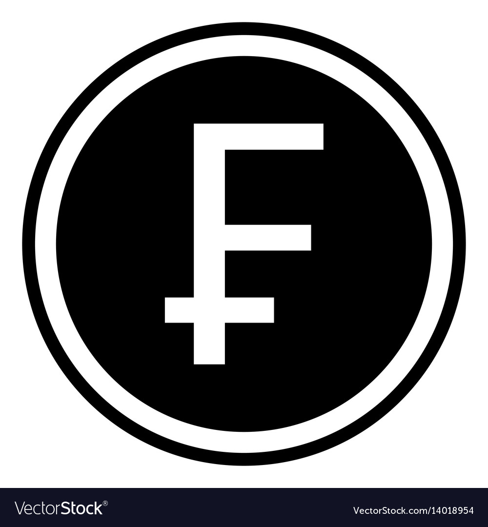 Swiss Franc Sign Chf Vector Image