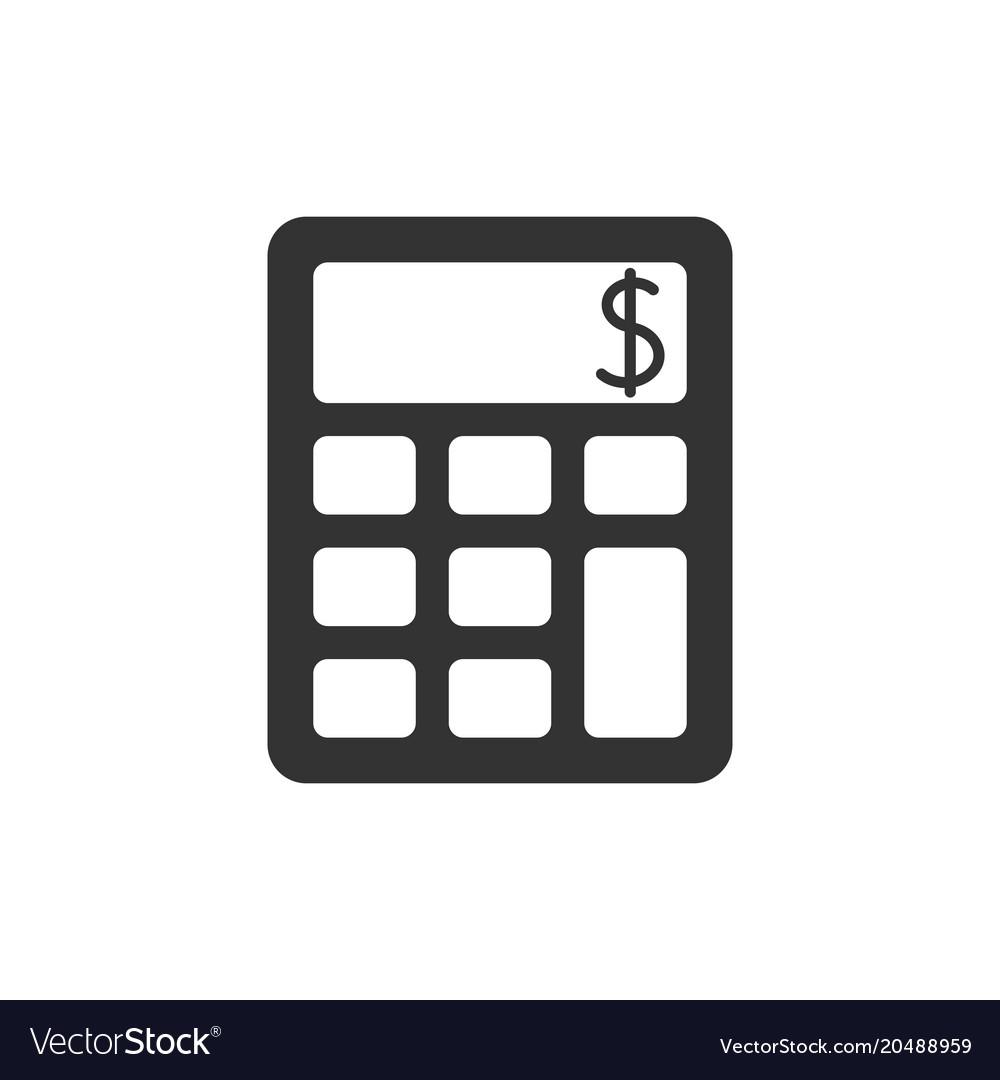 Calculator black icon vector image