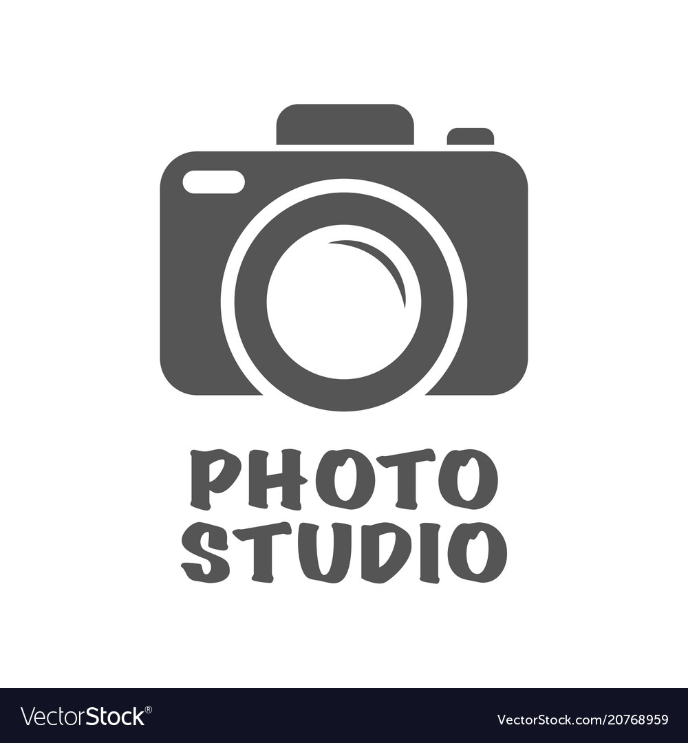 Camera icon in trendy flat style isolated on white