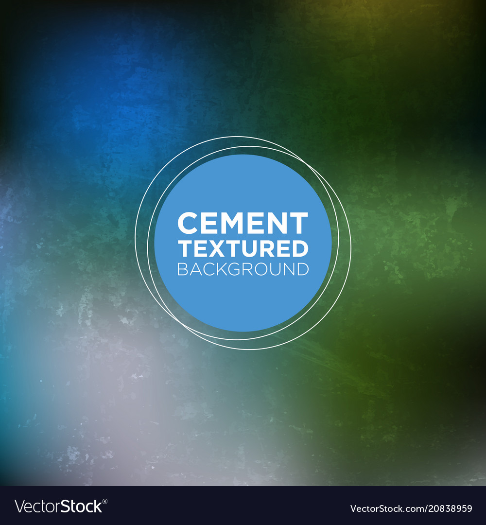 Cemented wall grunge background in emarald blue