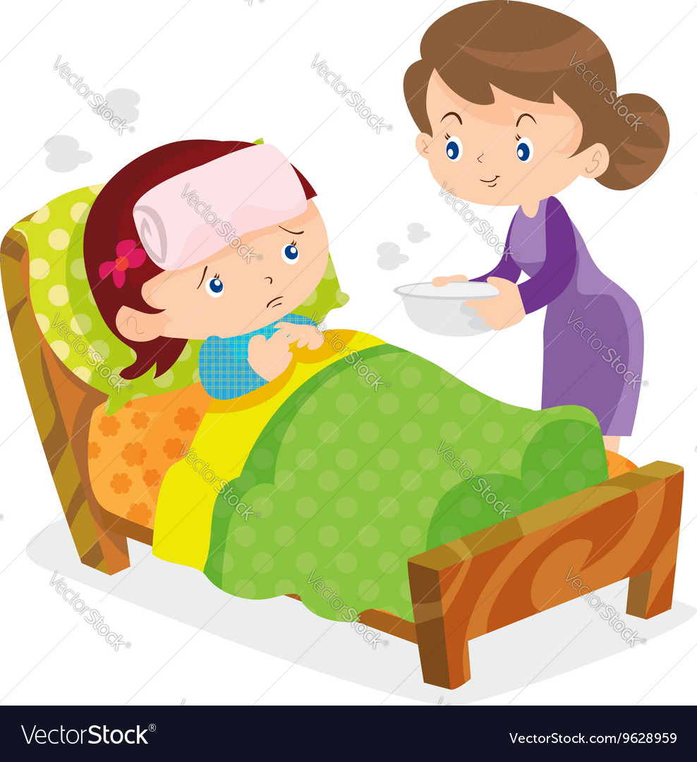 Mother take care sick girls royalty free vector image mother take care sick girls vector image altavistaventures Images