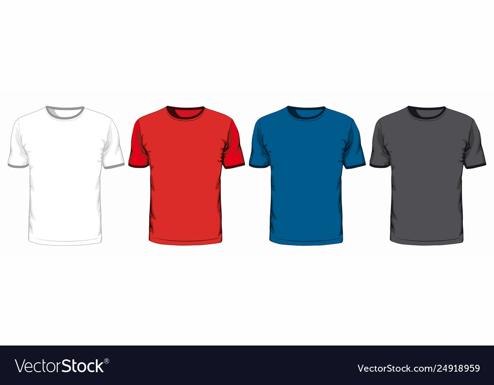 Set t-shirts on white background