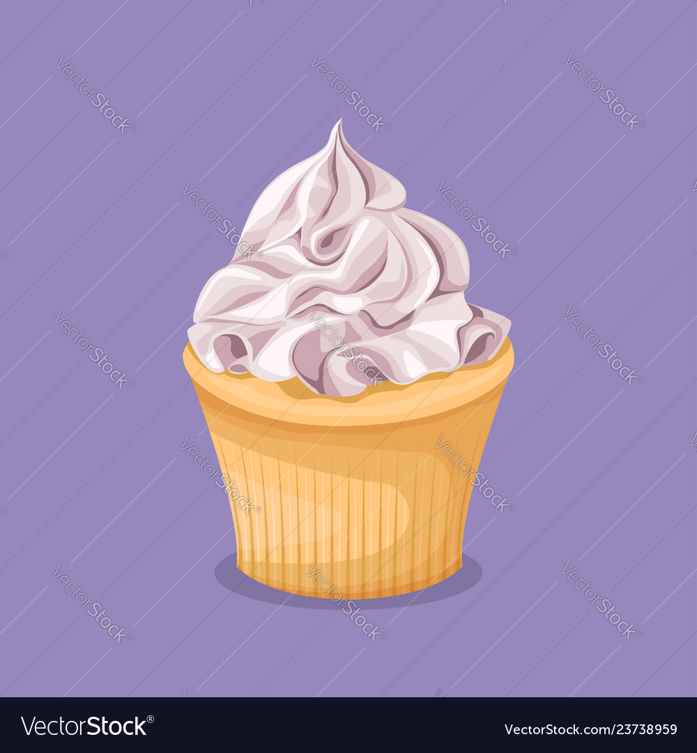 Sweet colorful dessert on a purple background