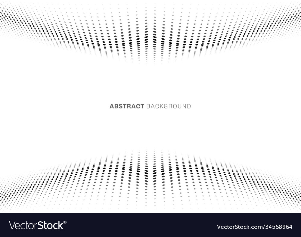 Abstract black dot wave pattern halftone style