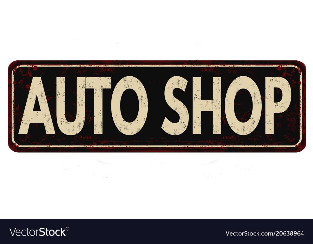vintage auto shop signs