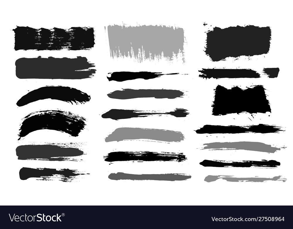 Brush strokes paintbrush set grunge