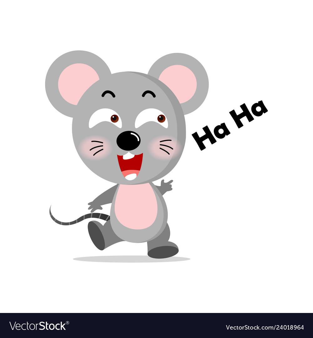 Concept cute mouse concept Royalty Free Vector Image