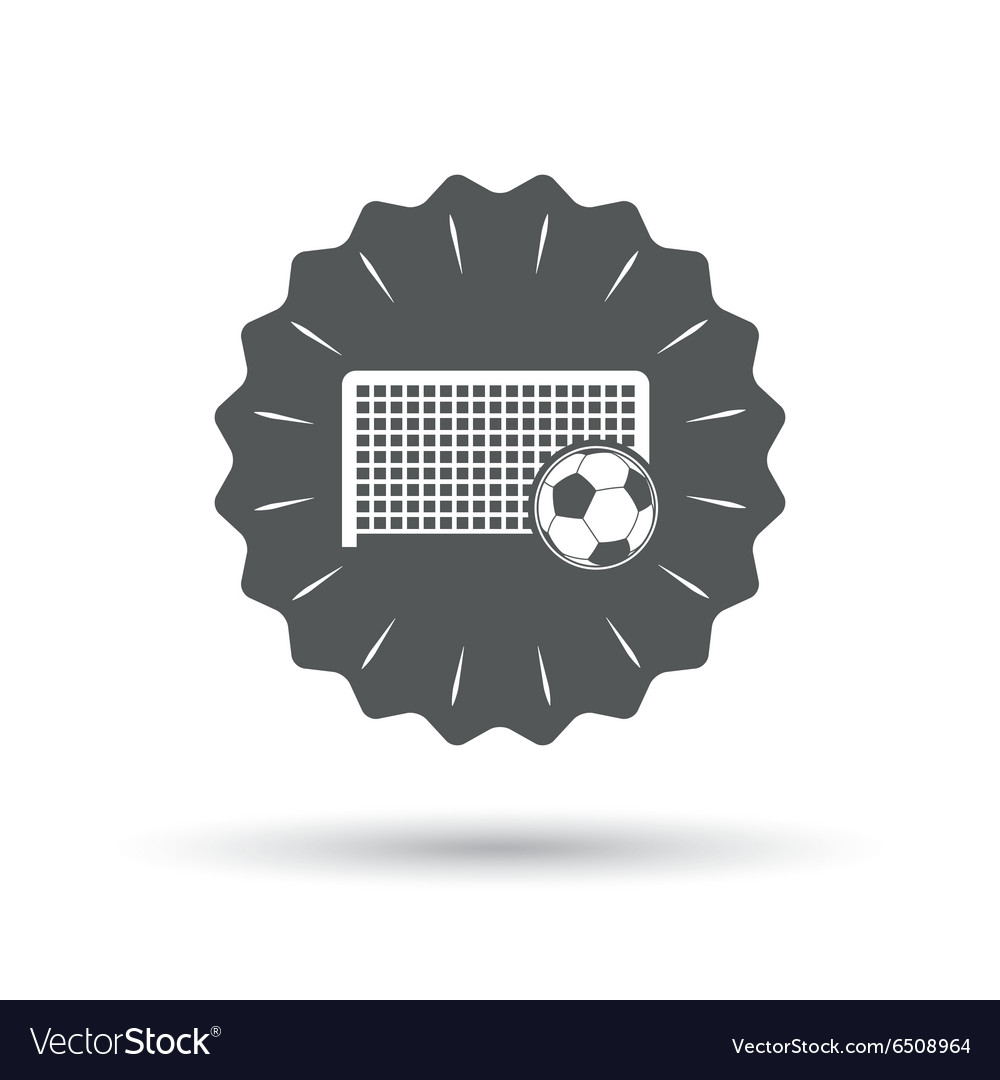 Football Gate Sign Icon Soccer Sport Symbol Vector Image And