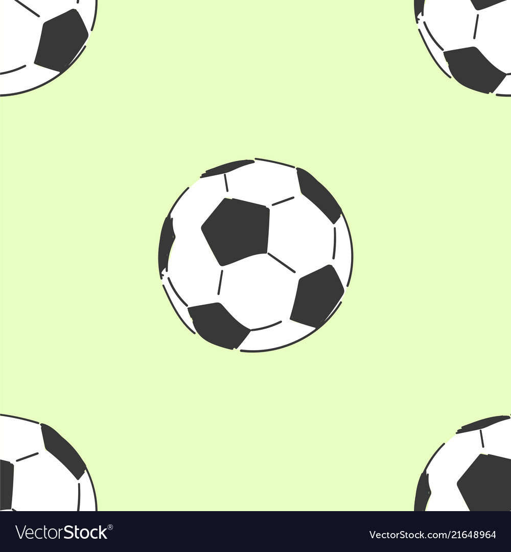 Football soccerball seamless pattern tile hand