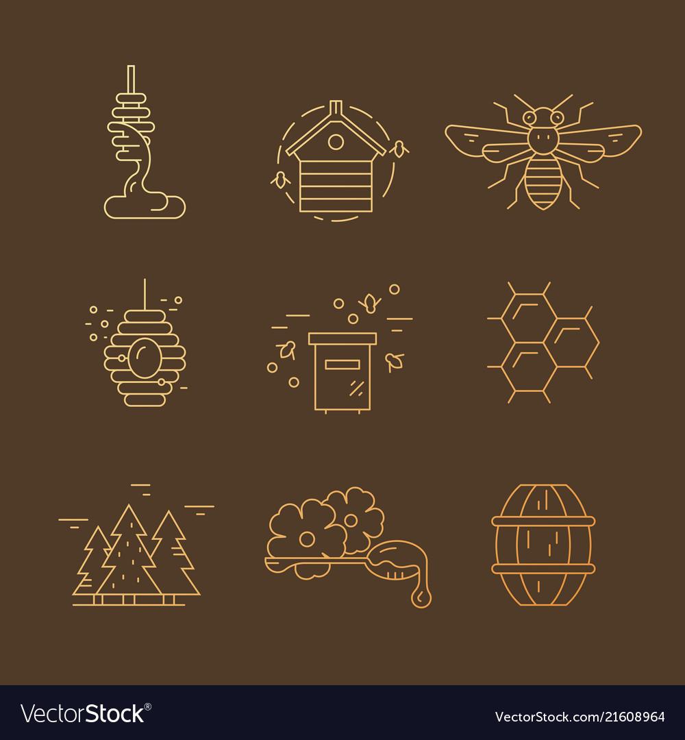 Gradient honey icons