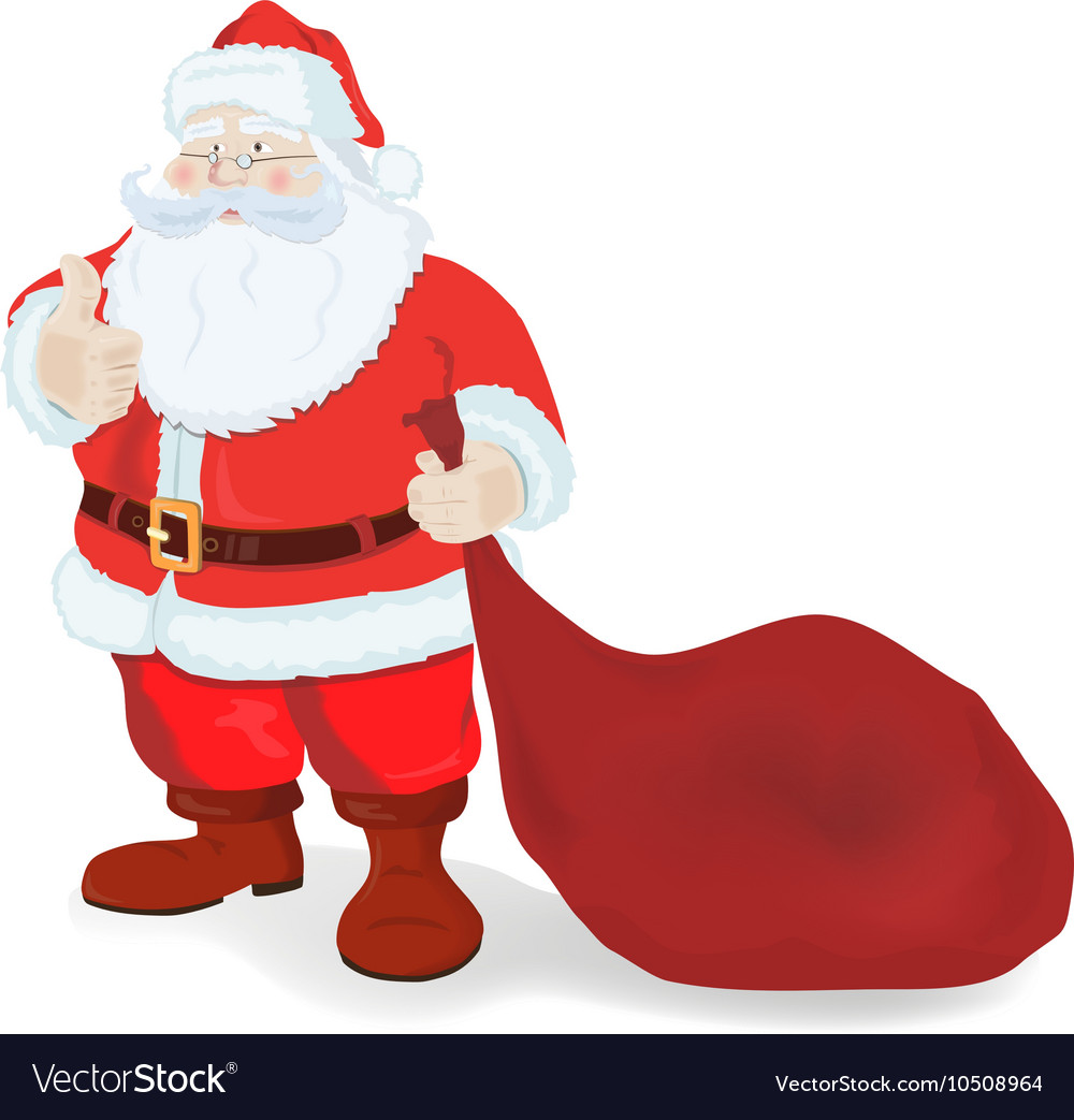 Ilustration for Christmas and New Year Santa