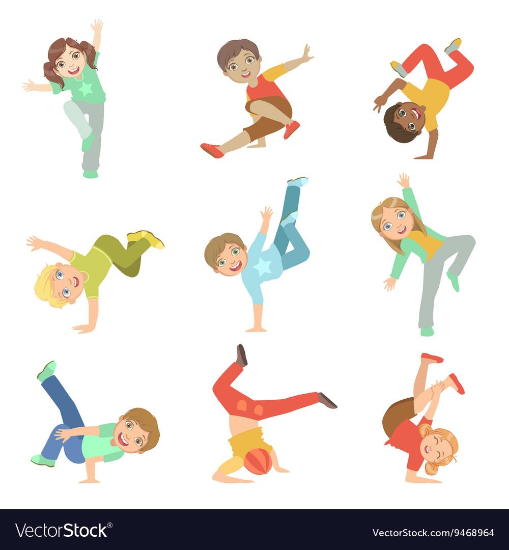 Kids Performing Modern Dance Set