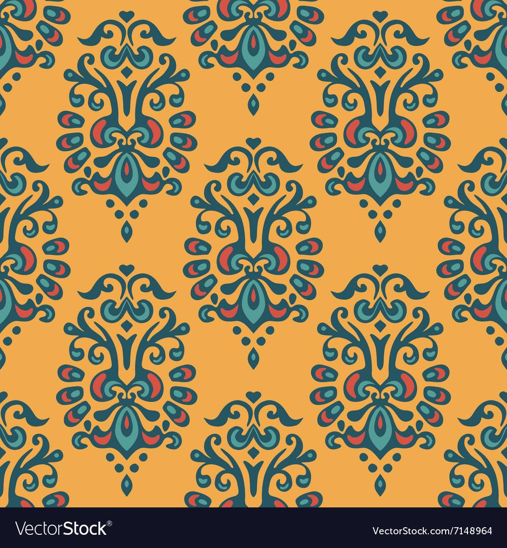 Luxury Damask seamless tiled motif pattern