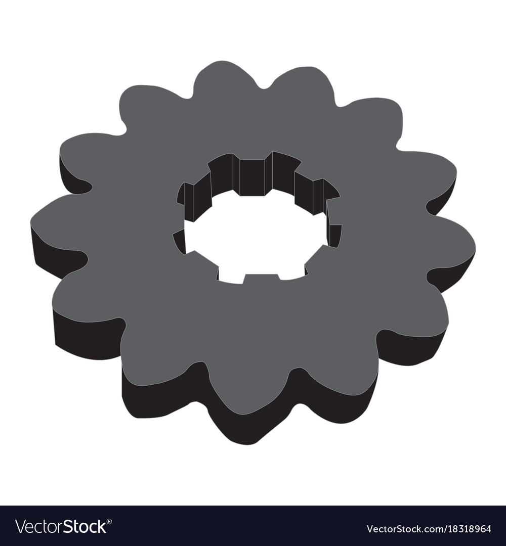 Monochrome image of metal gears vector image