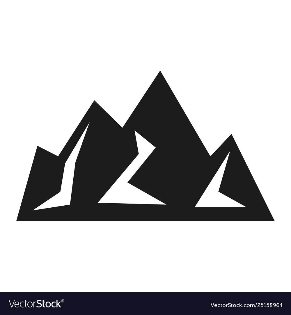 Mountain black icon hiking and business emblem