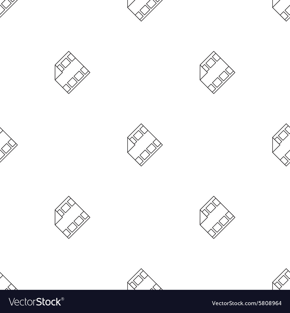 Outline film icon with play sign seamless