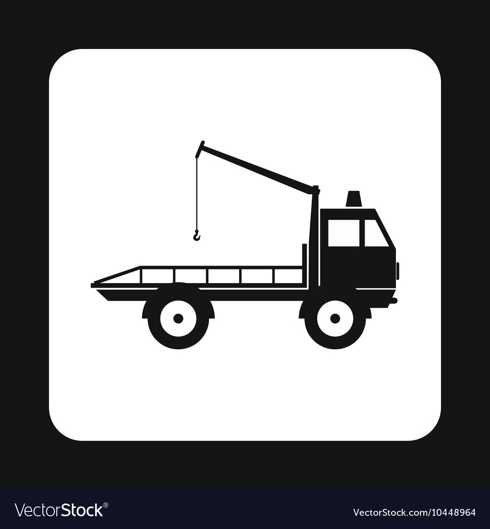 Tow truck icon simple style